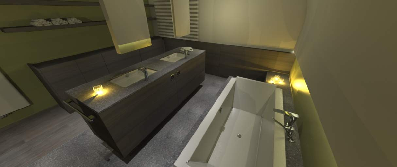 Badkamer idee in as idee m interieurarchitecten - Idee badkamer m ...