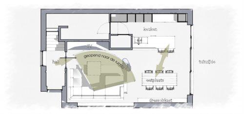 ... eetplaats kleuradvies woonkamer tv-hoek woning inrichten woonkamer